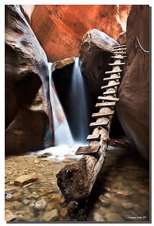 Tobacco Pipe Ladder, Kanarra Creek Falls, Kanarraville, UT