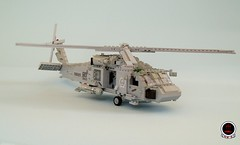 HS-3 'Tridents' SH-60F Seahawk (8) (Mad physicist) Tags: lego helicopter sikorsky seahawk sh60f cvw8