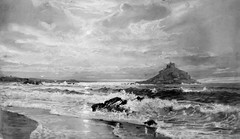 Strong as Stone (Thomas Hawk) Tags: california bw usa beach painting unitedstates unitedstatesofamerica stanford paloalto southbay richards stanforduniversity cantorartscenter williamtrostrichards natureshand