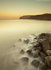 The Warm Glow Of Sunset (.Brian Kerr Photography.) Tags: sunset sea seascape mountains landscape northsea northyorkshire warmglow skinningrove catterstysands briankerrphotography thepowerofnow