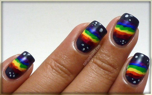 Day 9: Rainbow Nails - Nyan Cat
