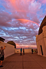 There will always be sunshine, after the rain (Edwin_Abedi) Tags: street sunset people storm color rain clouds losangeles rainbow photographer candid griffithobservatory doublerainbow