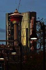 Lit Tower (pokoroto) Tags: autumn canada calgary tower october alberta lit 10 2011     kannazuki   themonthwhentherearenogods 23