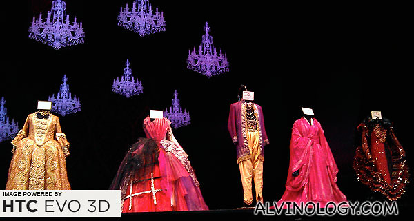 "Costumes from the set of ""The Merry Widow"""