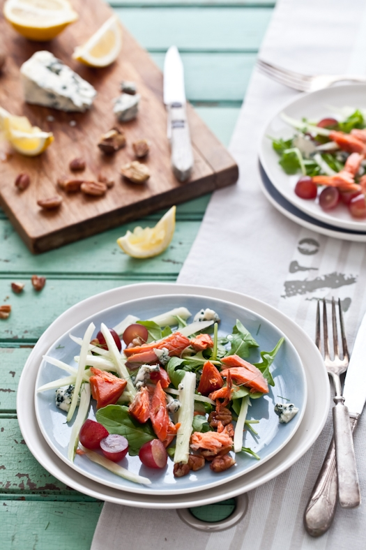 Salmon, Fennel and Grape Salad