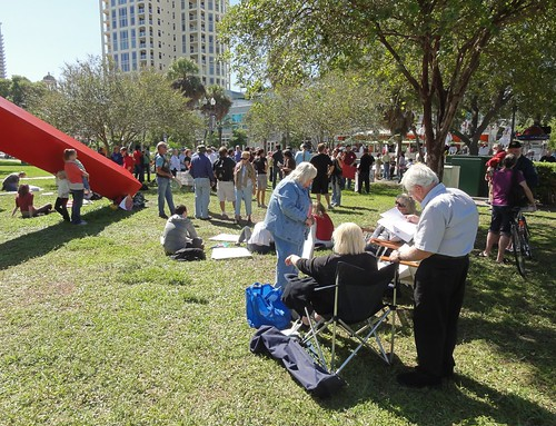 The crowd at Occupy Saint Pete