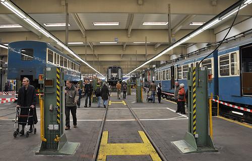 Interessante Einblicke im Betriebshof der U-Bahn