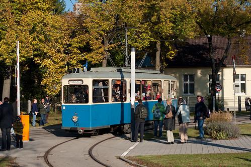 Stets gut gefüllt umrundete der Heidelberger-Wagen 721 die Hauptwerkstätte