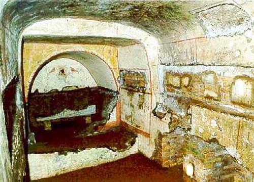 En catacumba Domitilla