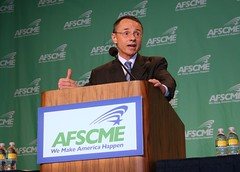 AFSCME Legislative Director Chuck Loveless