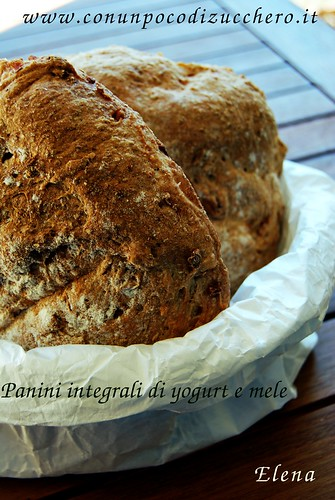 Panini integrali di yogurt e mele