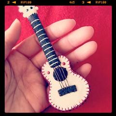 White Ukulele (hine) Tags: music white art miniature ukulele guitar handmade craft felt plush softie hine nuigurumi instagram