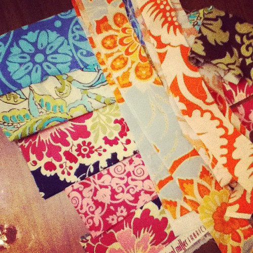 Mini quilt scraps