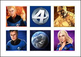 free Fantastic Four slot game symbols