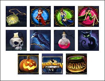 free Halloween Fortune slot game symbols