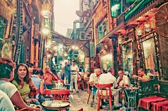 (L) Tags: old light people mirror cafe chair nikon sitting shisha tea egypt cairo talking azhar gossip   fishawy  d5000
