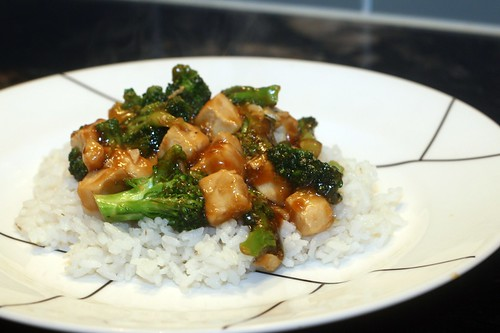 spicy thai chicken and broccoli