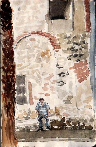 33th Sketchcrawl. El Raval ( Carrer de l'arc de Sant Agustí )