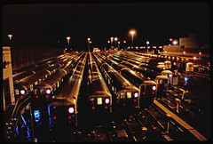 The #7 New York City Subway Train Willets Point Depot - At Night; Queens, New York (hogophotoNY) Tags: city nyc newyorkcity nightphotography urban usa ny film night train dark subway us publictransportation 7 slide slidefilm east spooky queens depot newyorkstate lirr atnight 7train eastcoast scannedslide nycsubway nysubway analogphoto queensny willetspoint queensnewyork subwaytrains hogo easternusa nycsubwaytrains flushingmeadows–coronapark filmphotograph hogophoto flushingmeadows–coronaparkqueens the7newyorkcitysubwaywilletspointdepotatnightqueens newyorkslidefilm subwaydepot queensnyus queensnytrain