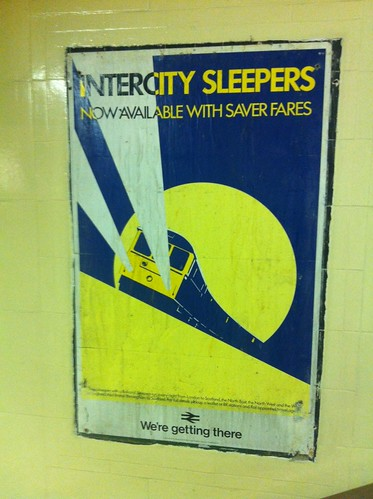 Old poster found at Richmond Station - sleepers by Simon Hickman