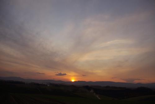 10月29日の夕陽2
