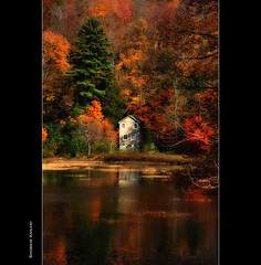 Stoner Lakes, Adirondacks (Shobeir) Tags: autumn house lake newyork reflection fall vertical landscape colorful fallfoliage adirondack stoner highpeak fallseason adirondackpark lakereflection fallreflection shobeiransari stonerlakes
