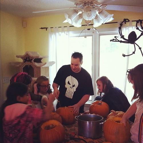 Craning pumpkins