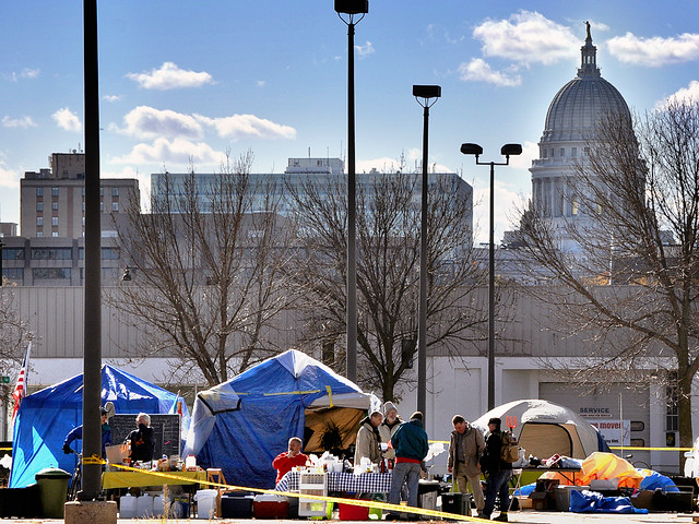 Occupy Madison Settled in at Their New, More Permanent Home on E. Washington