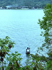 Fly Fishing Lake Batur - Bali (I Md. Dwi) Tags: bali lake fly fishing batur