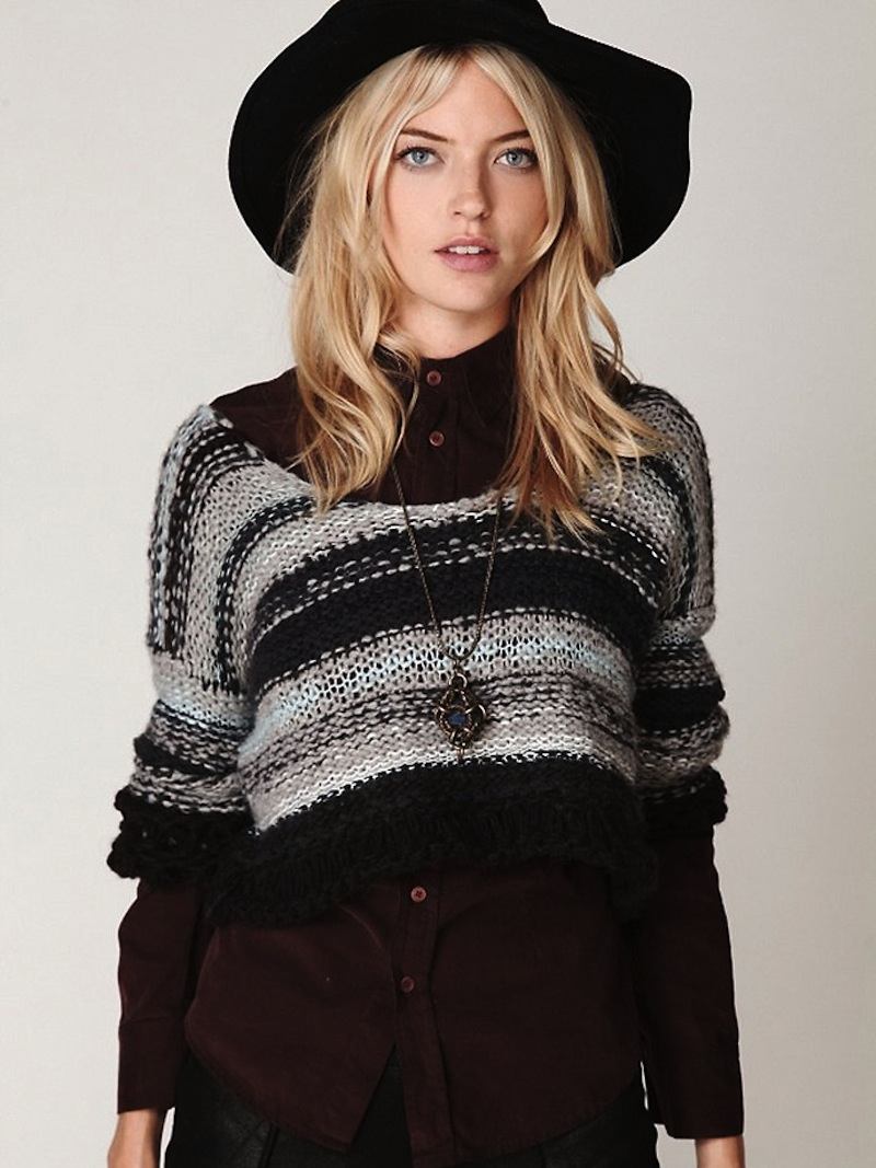 Free People multi-color striped sweater 1