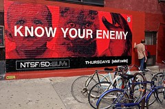 Know Your Enemy (Rachel Citron) Tags: nyc newyorkcity streetart brooklyn hipsters bikes tony bicycles gothamist plaid adultswim cartoons curbed cycles woostercollective knowyourenemy concretejungle timeoutnewyork streetsycom brownstoner formisaverb thelocaleastvillage cyclingrights