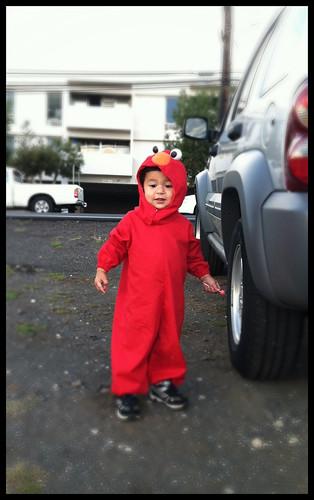 Danny in his Elmo costume