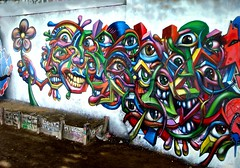 wall freestyle by Nowart 2011 (nowart) Tags: flower art wall by graffiti freestyle steet clichy 2011 cubico nowart