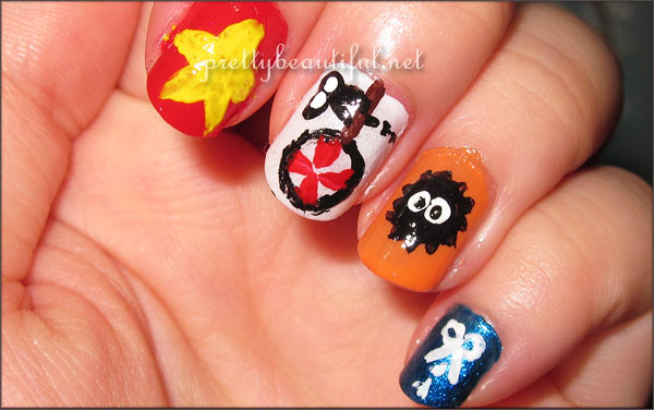 Cut the Rope Nail Art Candy