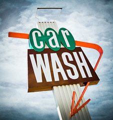 Lakeside Car Wash (Shakes The Clown) Tags: california brown signs green car typography lights automobile flickr neon illumination automotive retro carwash signage font burbank signlanguage sanfernandovalley
