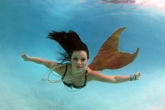 Christine the Mermaid (gbrummett) Tags: sunset water beautiful waterfall pretty underwater scuba christine mermaids stunning mermaid img5997 twigthefairy canoneos5dmarkiicamera grantbrummett