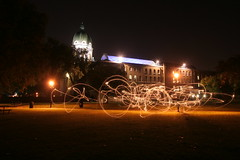 Light trails (and the Imperial War Museum) (@michaelambjorn) Tags: light night sparkler imperialwarmuseum lighttrail