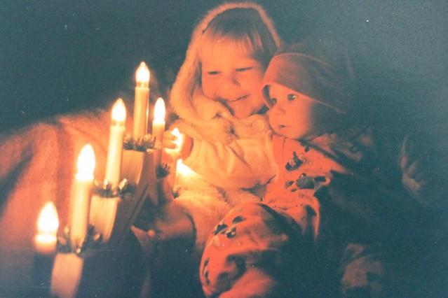 kynttilänvalossa