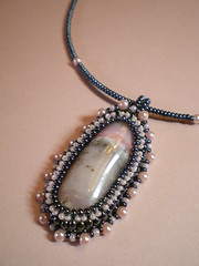 Romantic Pink Opal Necklace (Cassandra.Elizabeth.Beads) Tags: necklace beaded beadwork beadings beadweaving