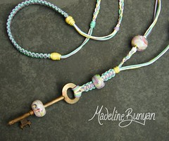 "Pastel Bead on a Key Necklace • <a style=""font-size:0.8em;"" href=""https://www.flickr.com/photos/37516896@N05/6323204413/"" target=""_blank"">View on Flickr</a>"