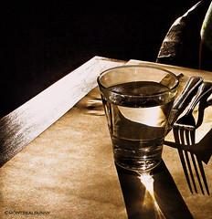 Hard Light (montreal_bunny) Tags: light water glass dinner shadows odc blueribbonwinner hardlight ourdailychallenge