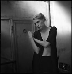 Olga XII (__Daniele__) Tags: portrait 6x6 film monochrome square blackwhite kodak trix hasselblad 400 analogue schwarzweiss