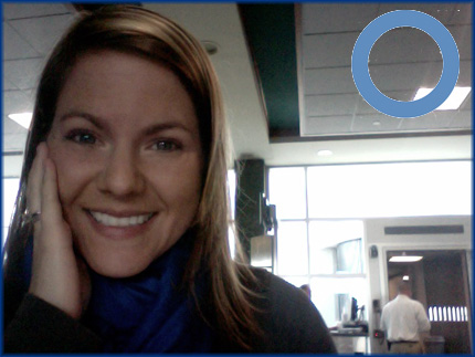 Get yer blue on ... even if you're at the airport and you're exhausted.