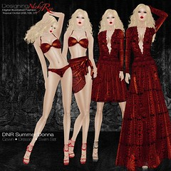 DNR Summer Donna Square Posters Red (designingnickyree) Tags: bikini dresses gowns sarongskirt nickyree slfashion resortfashion