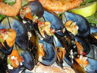 La Guardia (Pontevedra) | Restaurante Trasmallo | Langostinos y mejillones