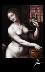 Paris, France - Musee du Louvre (Hsin Tai Liu) Tags: paris france macro art museum canon painting eos artwork women louvre snake fine du 100mm musee usm serpent f28 50d