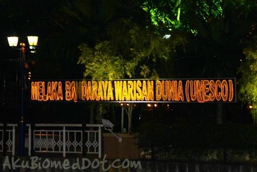 Lampu Melaka Bandaraya Warisan Dunia Unesco