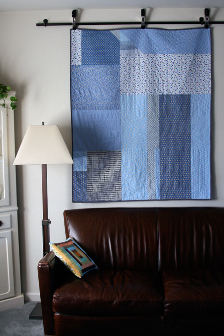 Blue Skies Stash Quilt