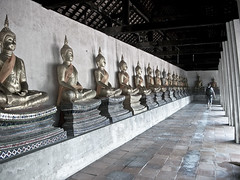 Remnants of Buddhist Monastary in Ayutthaya Thailand
