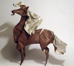 Horse by  H.T. Quyet, folded by Artur Biernacki (Arturori) Tags: horse art origami arturbiernacki htquyet